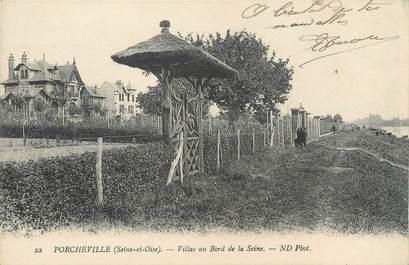 """CPA FRANCE 78 """"Porcheville, villas au bord de la Seine"""""""