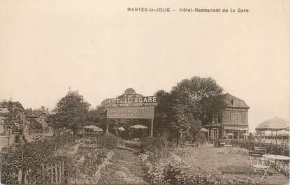 "CPA FRANCE 78 ""Mantes La Jolie, hôtel restaurant de la gare """
