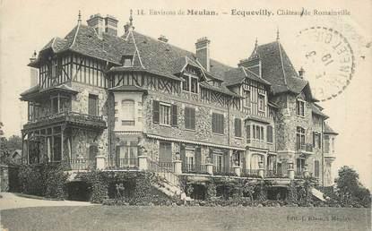 """CPA FRANCE 78 """"Ecquevilly, château de Romainville"""""""