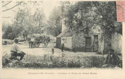 """CPA FRANCE 78 """"Cernay la Ville, intérieur de Ferme du Grand Moulin"""""""