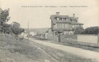 """CPA FRANCE 78 """"Entrée de Vaux, côté de Mantes, la Rive, Villa d'Yvette Guilbert"""""""