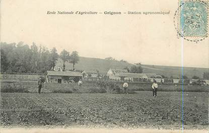 "CPA FRANCE 78 ""Grignon, école Nationale d'agriculture, station agronomique"""