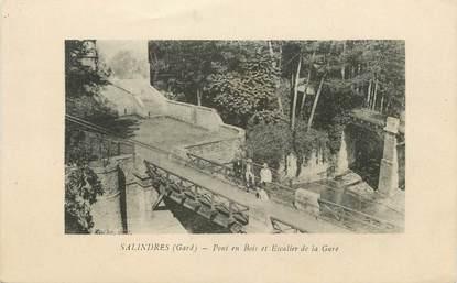 """/ CPA FRANCE 30 """"Salindres, pont en bois et escalier de la gare"""""""