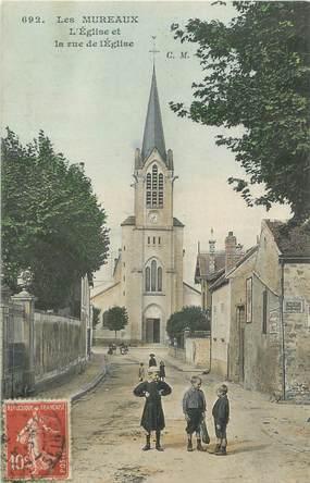 """CPA FRANCE 78 """"Les Mureaux, l'église et la rue de l'église"""""""