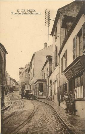 """CPA FRANCE 78 """"Le Pecq, rue de Saint Germain"""""""