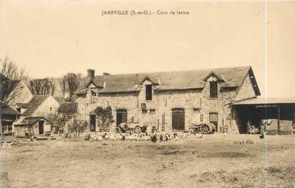"""CPA FRANCE 78 """"Jambville, cour de ferme """""""