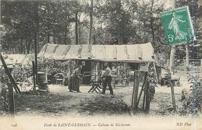 """CPA FRANCE 78 """"Forêt de Saint Germain en Laye, cabane de bûcherons"""""""