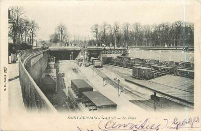 "CPA FRANCE 78 ""Saint Germain en Lay, la gare"""