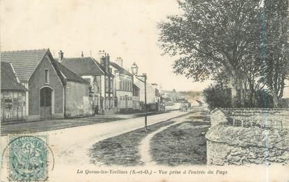 """CPA FRANCE 78 """"La Queue Les Yvelines, vue prise à l'entrée du pays"""""""
