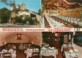 "47 Lot Et Garonne CPSM FRANCE 474 ""Bonaguil, le Cellier, bar tabac restaurant"""