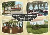 """60 Oise CPSM FRANCE 60 """"Verneuil en Halatte, auberge du marronnier"""""""