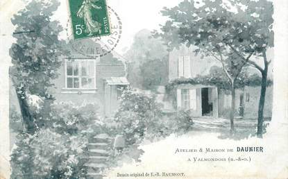 """CPA FRANCE 95 """"Valmondois, atelier et maison de Daumier"""""""