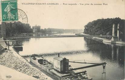 """CPA FRANCE 94 """"Villeneuve Saint Georges, pot suspendu"""" / PENICHE"""