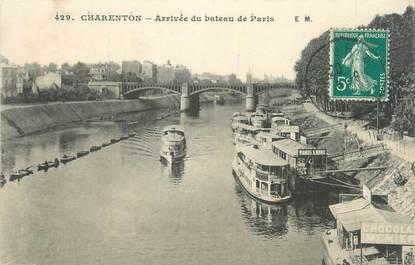 """CPA FRANCE 94 """"Charenton, arrivée du bateau de Paris"""""""