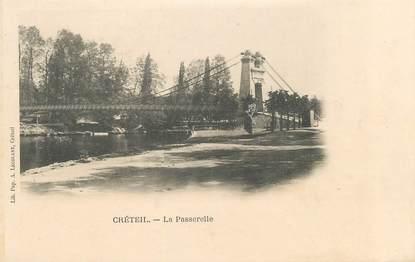 """CPA FRANCE 94 """"Créteil, la passerelle"""""""