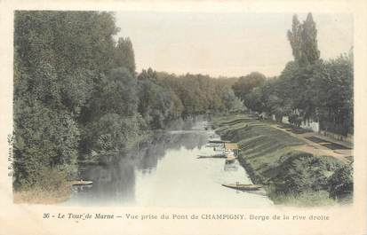 """CPA FRANCE 94 """"Le tour de Marne, vue prise du pont de Champigny"""""""