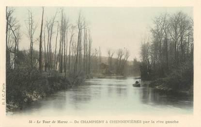 """CPA FRANCE 94 """"Le tour de Marne, De Champigny à Chennevières par la rive gauche"""""""