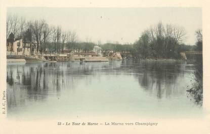 """CPA FRANCE 94 """"Le tour de Marne, la Marne vers Champigny"""""""