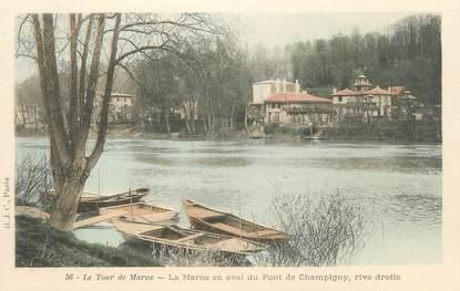 """CPA FRANCE 94 """"Le tour de Marne, la Marne en aval du Pont de Champigny"""""""