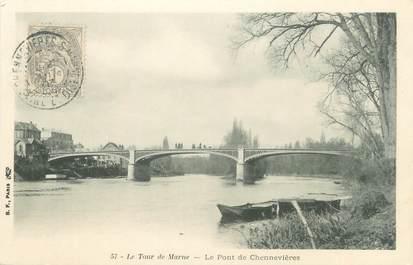 """CPA FRANCE 94 """"Le tour de Marne, le pont de Chennevières """""""