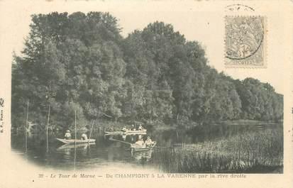 """CPA FRANCE 94 """"Le tour de Marne, de Champigny à la Varenne"""""""