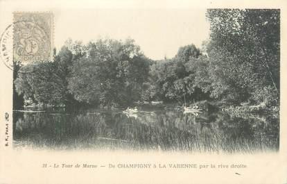 """CPA FRANCE 94 """"Le tour de Marne, la Marne à Chennevières, l'Ile d'Amour"""""""