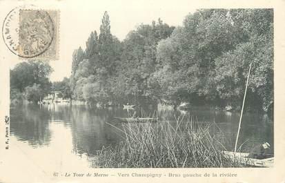 """CPA FRANCE 94 """"Le tour de Marne, vers Champigny, bras gauche de la rivière"""""""