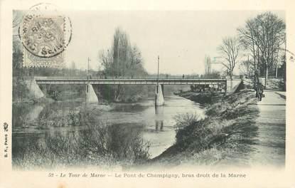 """CPA FRANCE 94 """"Le tour de Marne, le pont de Champigny, bras droit de la Marne"""""""