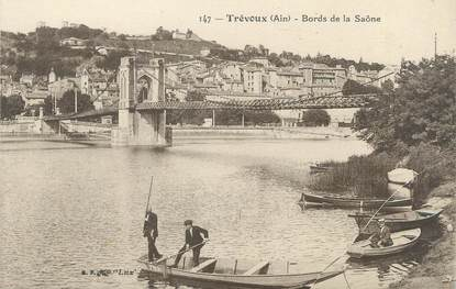 "CPA FRANCE 01 ""Trévoux, bords de la Saone"""