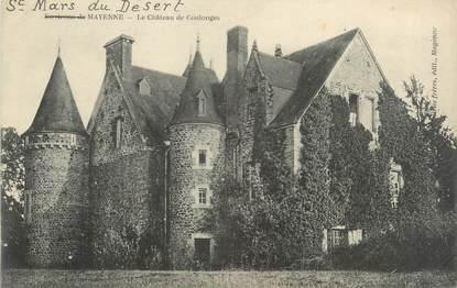 """CPA FRANCE 53 """"Saint Mars du Désert, le château de Coulonges"""""""