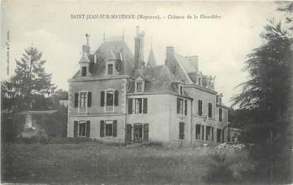 """CPA FRANCE 53 """"Saint Jean sur Mayenne, château de la Girardière"""""""