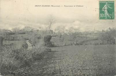 """CPA FRANCE 53 """"Saint Hilaire, panorama et château"""""""