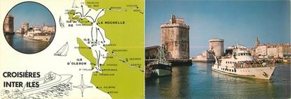 """CPSM LIVRET FRANCE 17 """"La Rochelle"""" / BATEAU"""