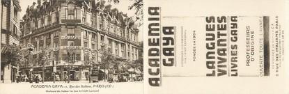 "CPA LIVRET FRANCE 75009 ""Paris Académia Gaya"""