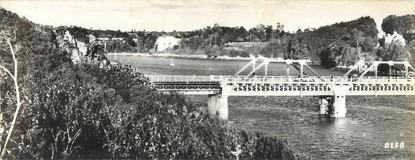 """CPSM PANORAMIQUE FRANCE 22 """"Le Guildo, le pont et le château"""""""