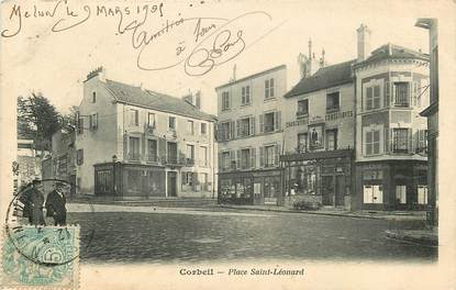 """CPA FRANCE 91 """"Corbeil, Place Saint Léonard"""""""