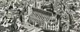 """CPSM PANORAMIQUE FRANCE 18 """"Bourges, vue sur la cathédrale et l'hôtel de ville"""""""