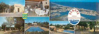 "CPSM LIVRET FRANCE 34 ""Cap d'Agde, Europa"" / CAMPING"