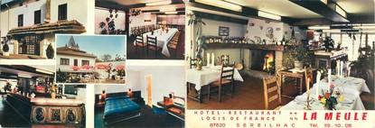 """CPSM LIVRET FRANCE 87 """"Sereilhac, hôtel restaurant La Meule"""""""