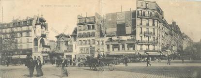 """CPSM PANORAMIQUE FRANCE 75018 """"Paris, le moulin rouge"""""""