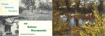 """CPSM LIVRET FRANCE 61 """"Athis de l'Orne, ferme Camping de la Ribardière"""""""