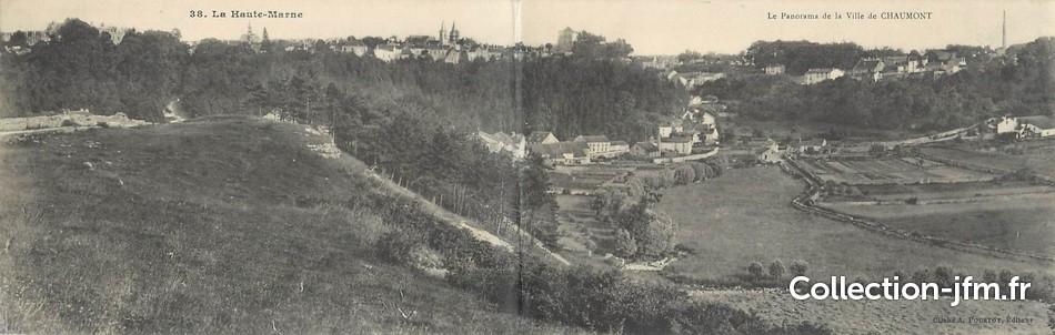 Cpa panoramique france 52 chaumont panorama de la ville for Piscine chaumont 52