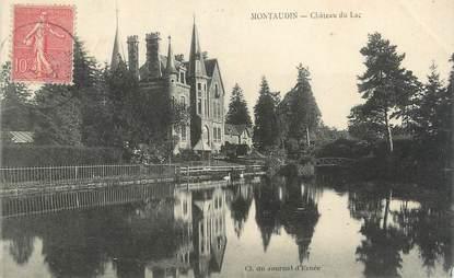"CPA FRANCE 53 ""Montaudin, château du lac"""