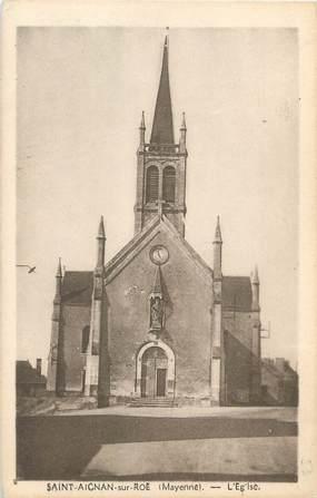 """CPA FRANCE 53 """"Saint Aignan sur Roë, l'église"""""""