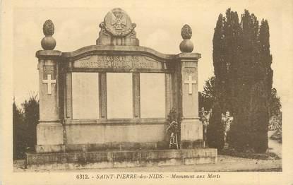 """CPA FRANCE 53 """"Saint Pierre des Nids, monument aux morts"""""""