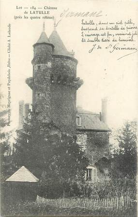 "CPA FRANCE 46 ""Château de Latulle"""