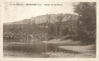 "CPA FRANCE 46 ""Meyronne, rocher de Sainte Marie"""