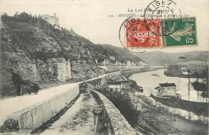 """CPA FRANCE 46 """"Mercuès, le château et la vallée du Lot"""""""