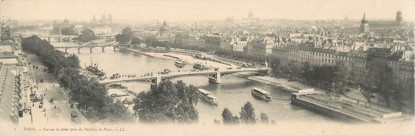"""CPA PANORAMIQUE FRANCE 75001 """"Paris, vue sur la Seine prise du pavillon de Flore"""""""