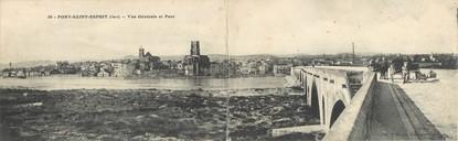 """CPA PANORAMIQUE FRANCE 30 """"Pont Saint Esprit, vue générale et pont"""""""